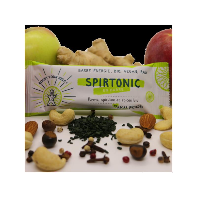 Barre bio tonifiante naturelle, spiruline, acérola, guarana-  Spirtonic-35g